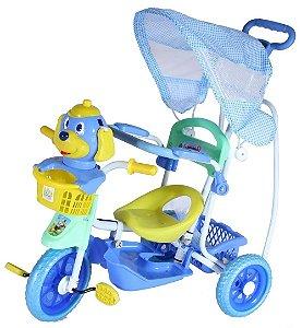 Triciclo Com Capota Cãozinho Azul