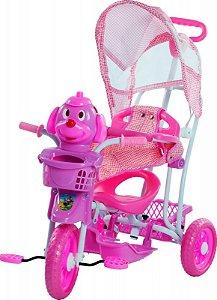 Triciclo Com Capota Cãozinho Rosa