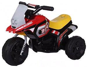 Triciclo Elétrico Mini Moto Infantil 6v Vermelho
