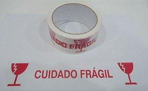 FITA ADESIVA PP CUIDADO FRAGIL BRANCA 48MMX50M