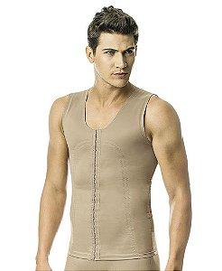 Camiseta Masculina com Abertura Frontal Alta- 3009/3041 TC AB