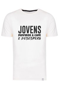 Camiseta Jovens Movidos A Café E Desespero