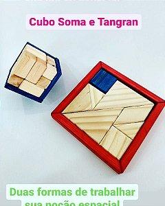 Desafio Tangran e Cubo Soma - Tangran 2d e 3d- JAC oficina de Madeiras.