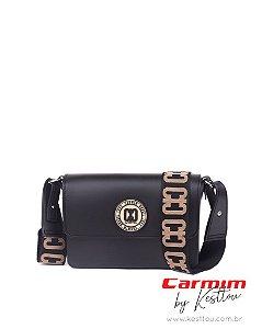Bolsa Tiracolo Carmim by Kesttou BK043 Preto - Unidade