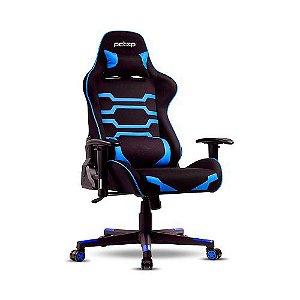 Cadeira Gamer Pctop Power Preta E Azul - X-2555