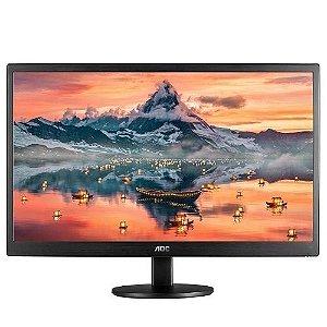 """Monitor AOC LED 18.5"""" HDMI/VGA 5ms E970SWHNL"""