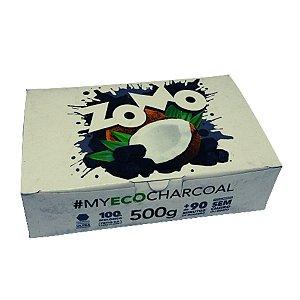 Carvão Zomo Fibra de Coco - Display 1/2 kg