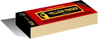 Piteira Yellow Finger Brown 15mm - Unidade