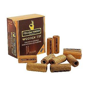 Piteira de Madeira Yellow Finger Wooden Tip Big - Unidade