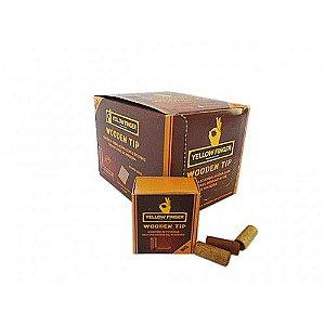 Piteira de Madeira Yellow Finger Wooden Tip Big - Display