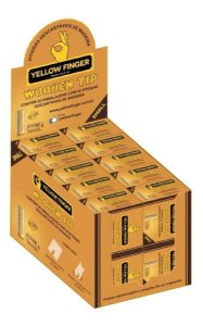 Piteira de Madeira Yellow Finger Wooden Tip Small 1 1/4 - Display