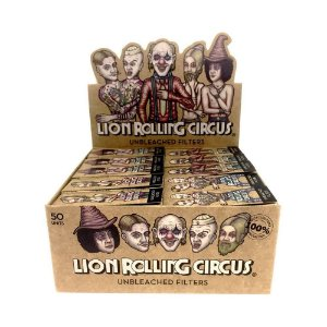 Piteira Lion Rolling Circus Unbleached Mini 20mm - Display