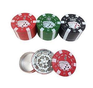 Dichavador Metal Poker 3 Partes - Unidade