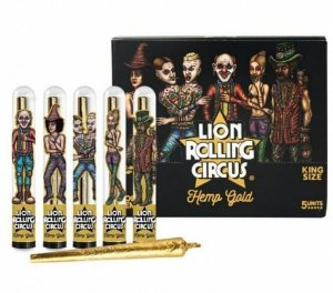 Seda Blunt Cone Lion Rolling Circus Gold - Display 5 un