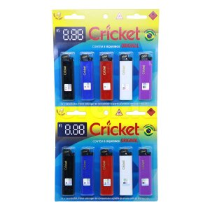 Isqueiro Cricket Grande - Display 10 un