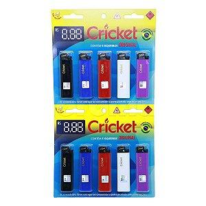 Isqueiro Cricket Grande - Display 10 un