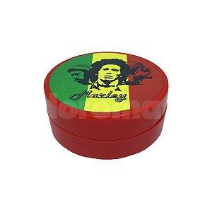 Dichavador Metal Grande Vermelho Bob Marley 2 Partes - Unidade