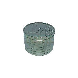 Dichavador Metal Moeda Euro 3 Partes - Unidade