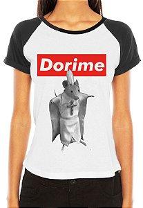 Camiseta Dorime Supreme Raglan Personalizada Camisa Meme Internet Moda Geek Nerd Feminina