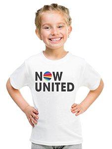 Camiseta Now United Logo Camisa Infantil Grupo Pop Music Tshirt Moda Geek Nerd Personalizada Menino Menina Unissex