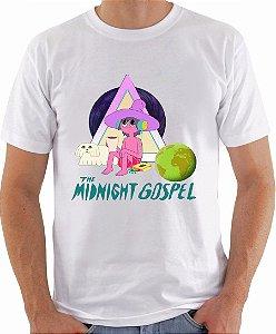 Camiseta The Midnight Gospel Camisa Serie Netflix Blusa Moda Geek Nerd Masculina