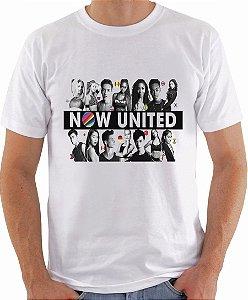 Camiseta Now United Integrantes Camisa Masculina Logo Grupo Pop Music Tshirt Moda Geek Nerd Personalizada