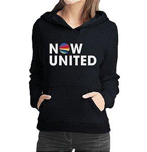 Moletom Now United Feminino Grupo Pop Music Agasalho Uniters Moda Geek Nerd Personalizado