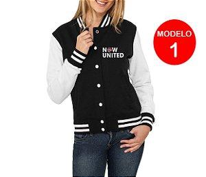 Jaqueta College Now United Integrantes Grupo Pop Music Agasalho Uniters Feminino Moletom Moda Geek Nerd Personalizado