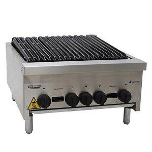 Char Broiler Deguste Luxo a Gás 4 Queimadores Inox Venâncio CGG60