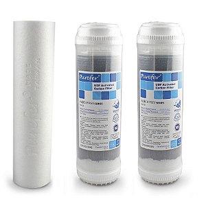 Kit de Elementos Filtrantes para o Sistema de Filtração de Água de 3 Estágio Global Water