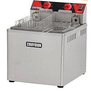 Fritadeira Elétrica Industrial Zona Fria 15 litros 8000W Croydon FZM8