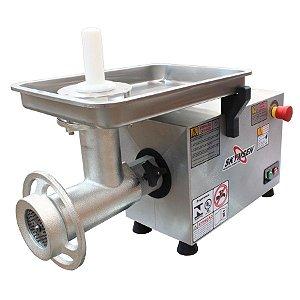 Picador de Carne Industrial Corpo Inox e Boca 22 Inox Skymsen 1CV PS-22