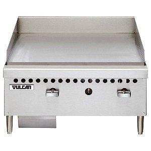 Chapa Bifeteira A Gás Chapa Lisa 2 Queimadores Vulcan VCRG24
