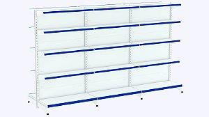 Kit Gôndola de Centro 1,70 Flex 40 1 Inicial + 2 Continuações
