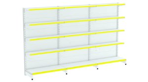 Kit Gôndola de Parede 1,96m Flex 40 com 1 Inicial + 2 Continuações