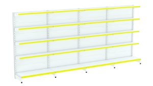 Kit Gôndola de Parede 1,96m Flex 40 com 1 Inicial + 3 Continuações