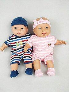 Boneca Bebe Irmãozinhos Fofinhos - Com Enxoval - Kaydora Brinquedos
