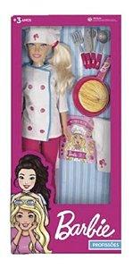 Boneca Barbie Chef Cozinheira Grande C/ Acessórios - Pupee