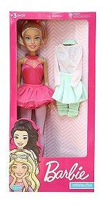 Boneca Barbie Bailarina 65cm Com Acessorios Pupee 1261