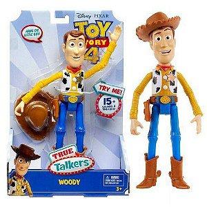 Boneco Toy Story 4 True Talkers Woody Com Sons Mattel Gpj27