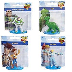 Kit com 4 Bonecos Toy Story 5cm com Buzz, Woody, Bo Peep,Rex