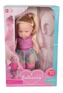 Boneca Pink Ballerina Pupee Modelo 1052