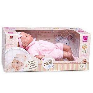 Boneca bebê real Roma brinquedos 5075