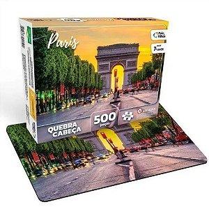 Quebra Cabeça Cartonado Paris 500 Peças Jogos Pais e Filhos