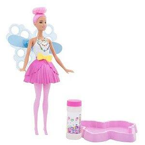 Boneca Barbie Fantasia Fada Bolhas Mágicas - Mattel