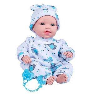 Boneca Miyo Menino Com Som De Bebê Abre Fecha Olho
