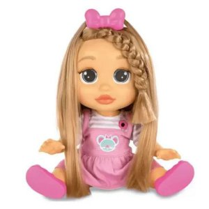 Boneca Baby Wow Mia Fala E Cabelo Cresce Multikids