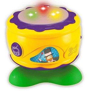 Bateria Tambor Mágico Músical Mundo Bita Luzes Sons