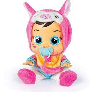 Boneca Cry Babies Lena Lhama Chora De Verdade Multikids