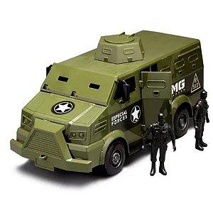 Brinquedo Carro Furgão Comandos Blindado Militar